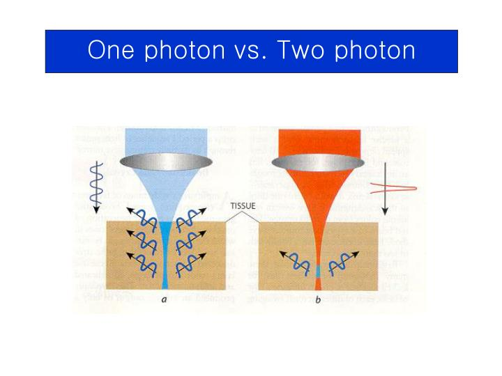 One photon vs. Two photon