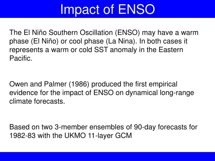 Impact of ENSO