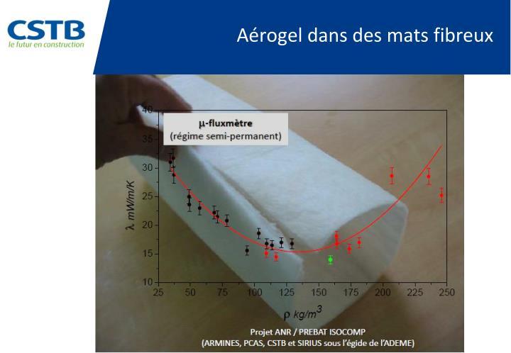 Aérogel dans des mats fibreux