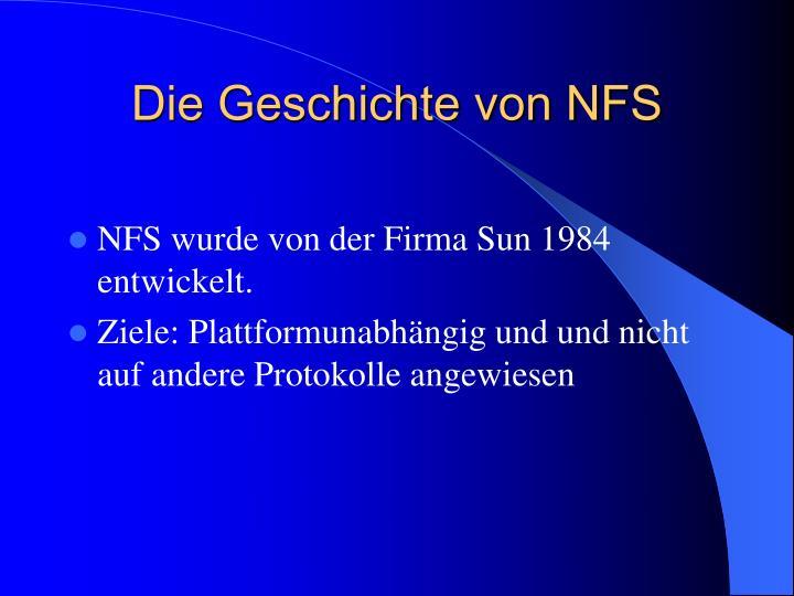 Die Geschichte von NFS