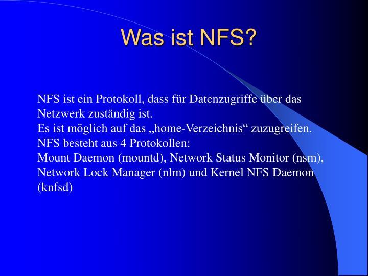 Was ist NFS?