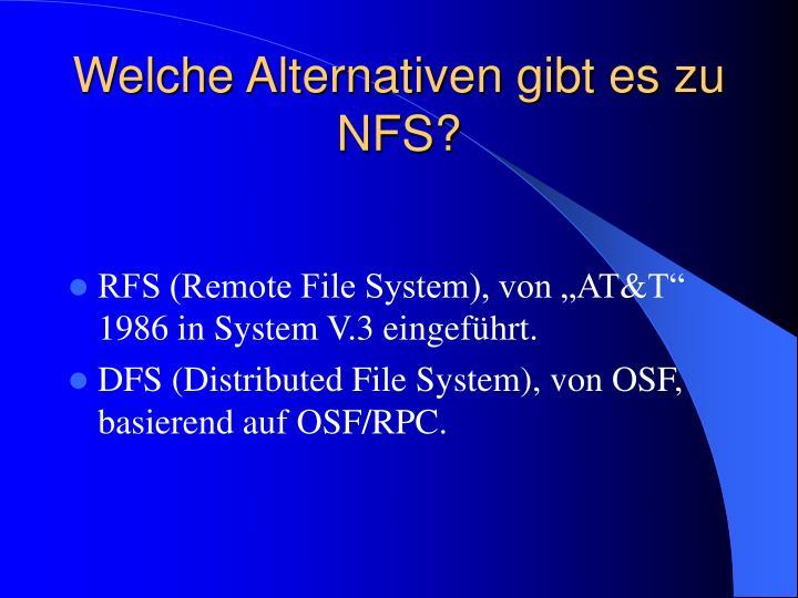 Welche Alternativen gibt es zu NFS?