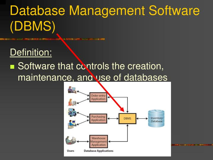 Database Management Software (DBMS)