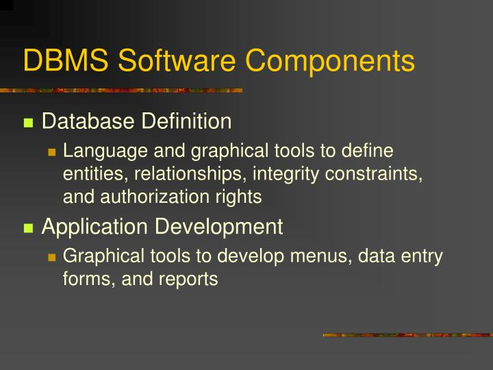 DBMS Software Components