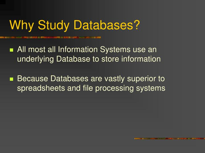 Why study databases