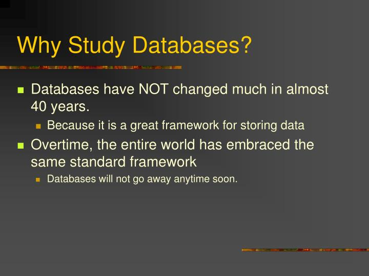 Why study databases1