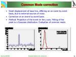 common mode correction