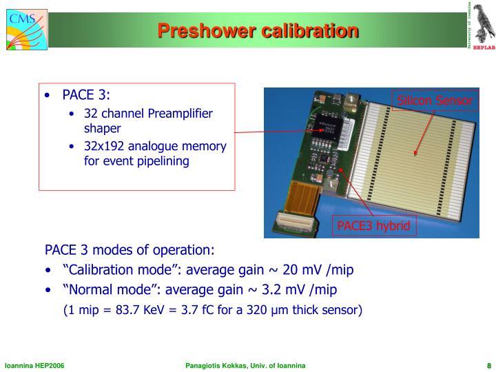 Preshower calibration