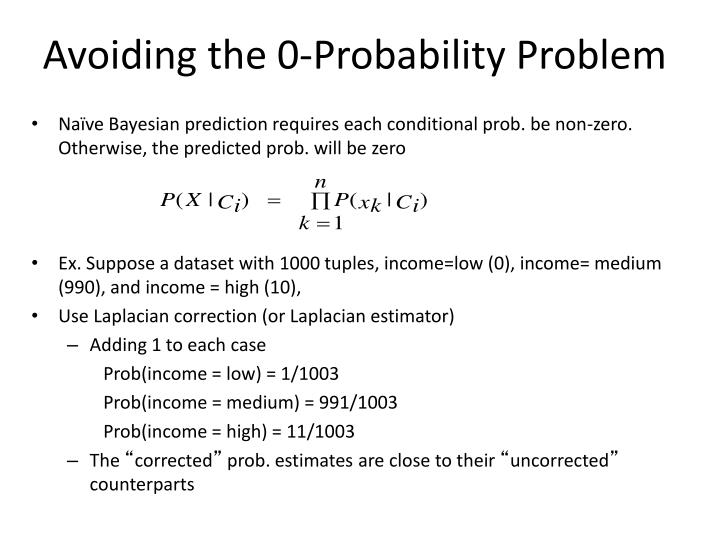 Avoiding the 0-Probability Problem