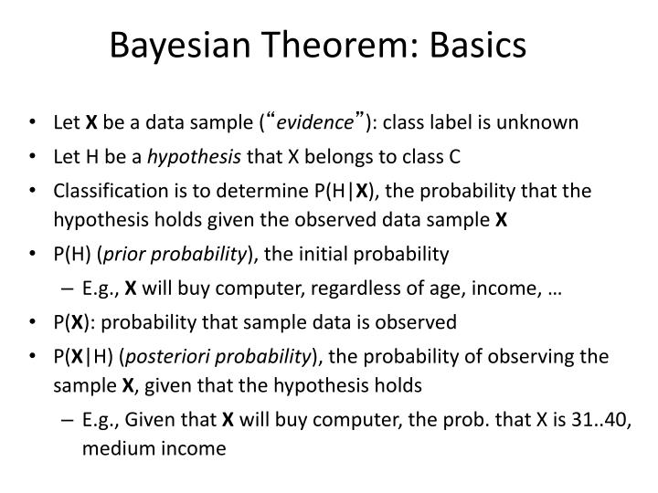 Bayesian Theorem: Basics