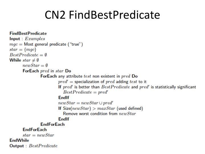 CN2 FindBestPredicate