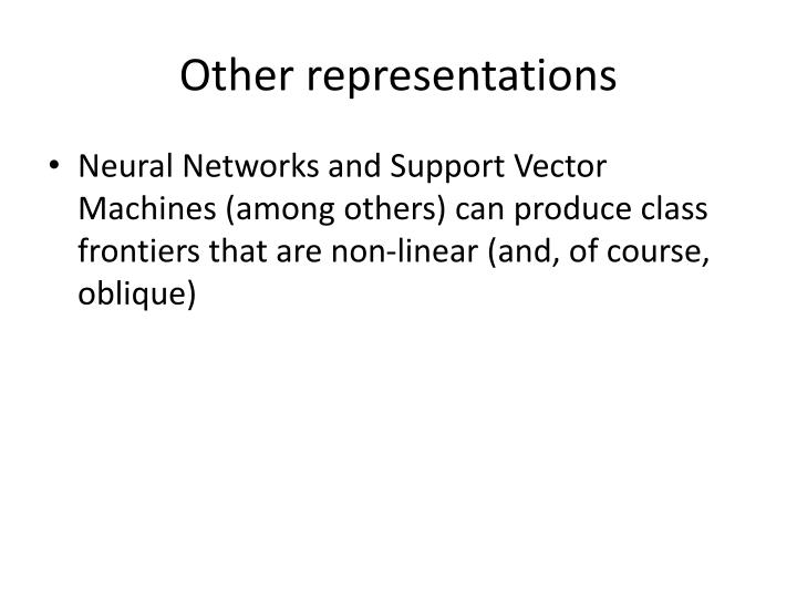Other representations