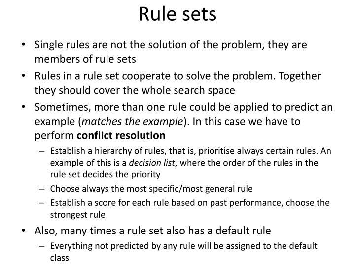 Rule sets