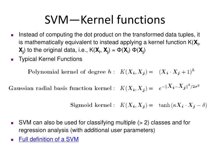 SVM—Kernel functions
