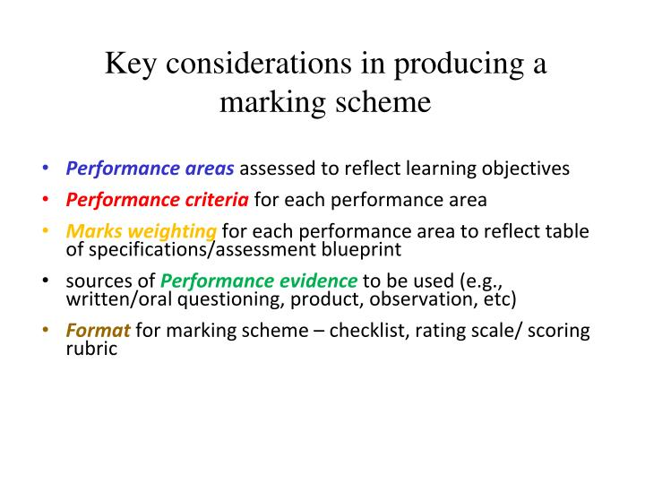 Key considerations in producing a