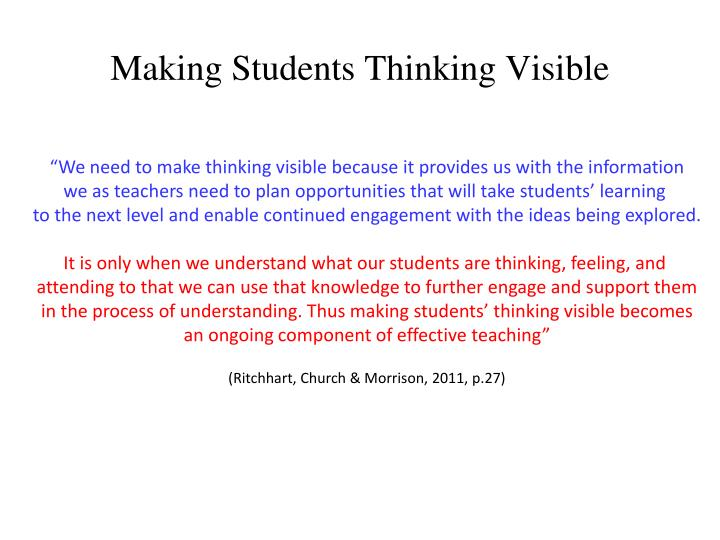 Making Students Thinking Visible