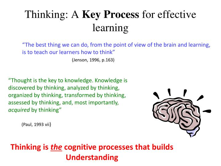 Thinking a key process for effective learning