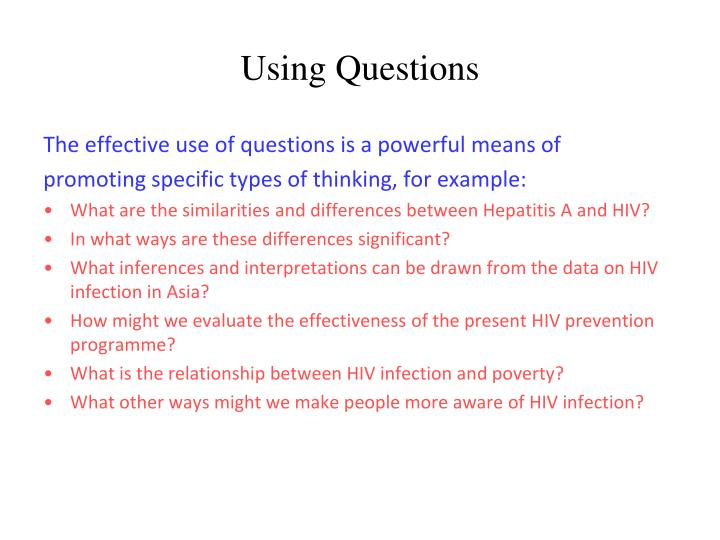 Using Questions