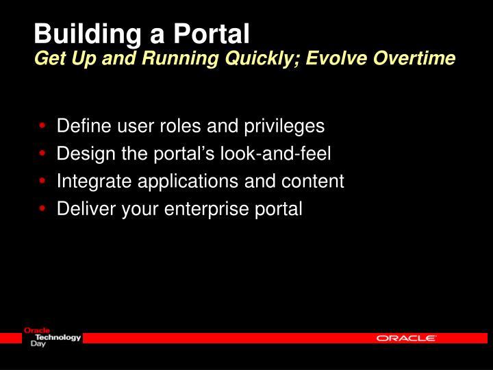Building a Portal