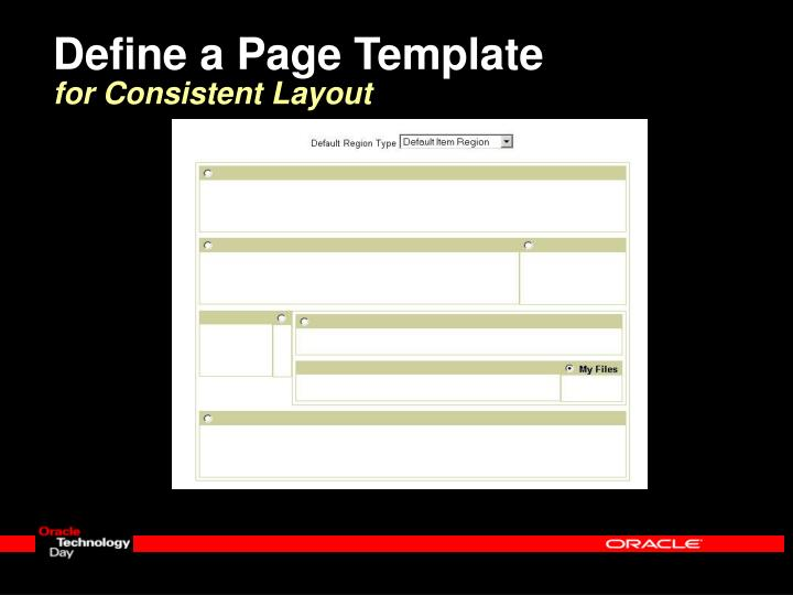 Define a Page Template