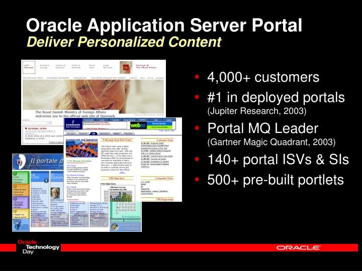 Oracle Application Server Portal