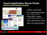 oracle application server portal deliver personalized content