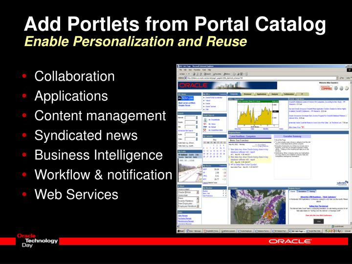 Add Portlets from Portal Catalog