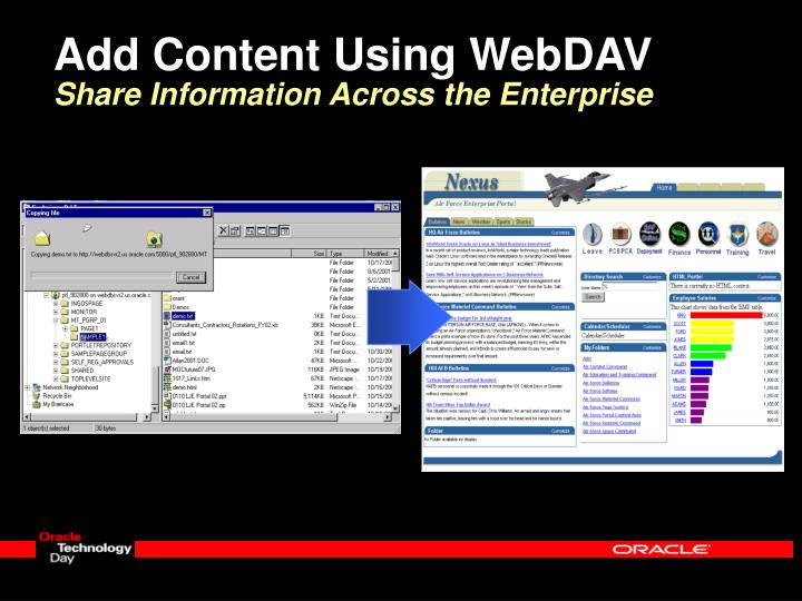 Add Content Using WebDAV