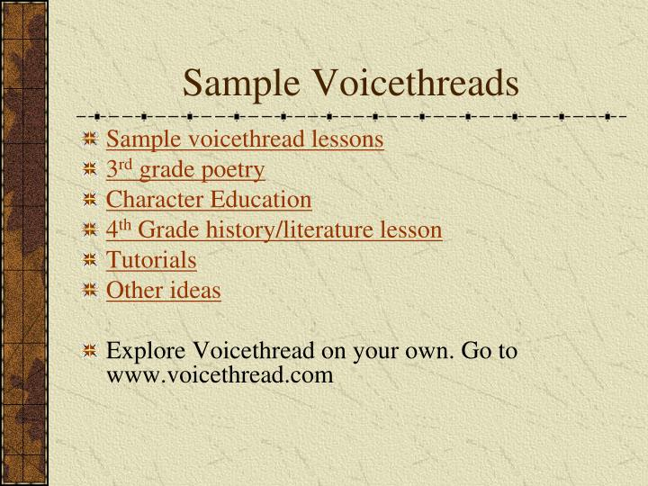 Sample Voicethreads