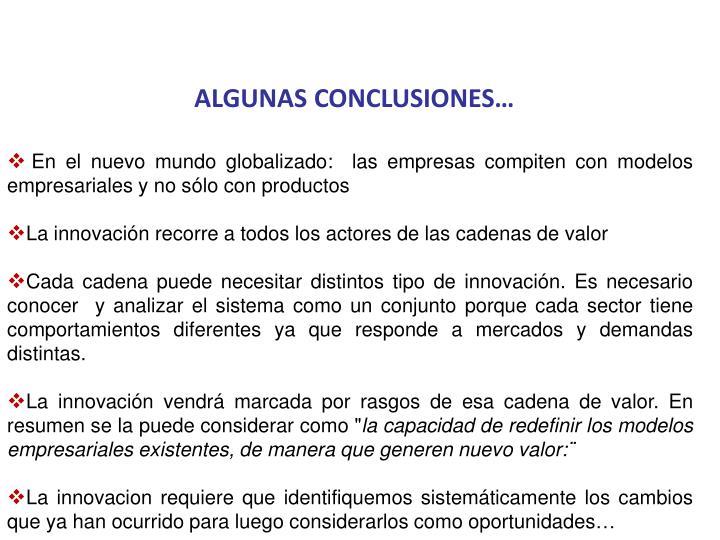 ALGUNAS CONCLUSIONES…