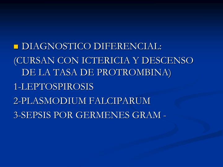 DIAGNOSTICO DIFERENCIAL: