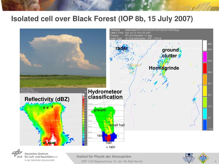 Isolated cell over Black Forest (IOP 8b, 15 July 2007)