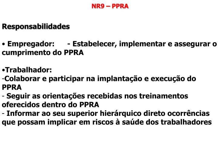 NR9 – PPRA
