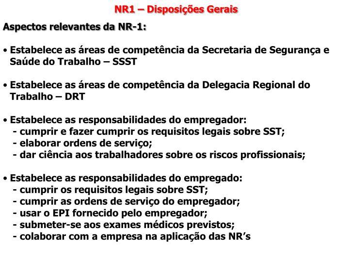 NR1 – Disposições Gerais