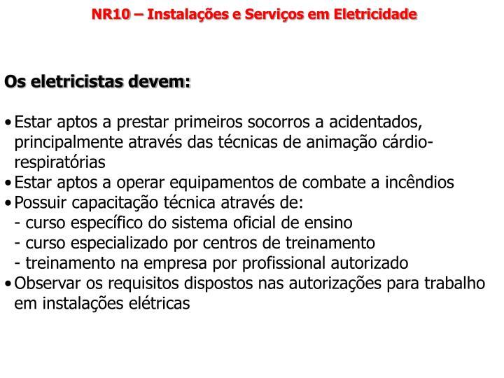 NR10 – Instalações e Serviços em Eletricidade