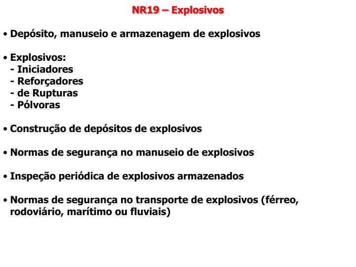 NR19 – Explosivos