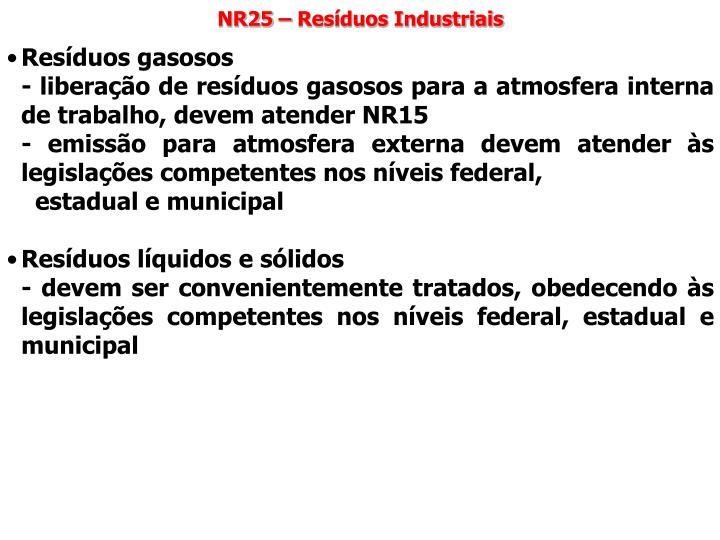 NR25 – Resíduos Industriais