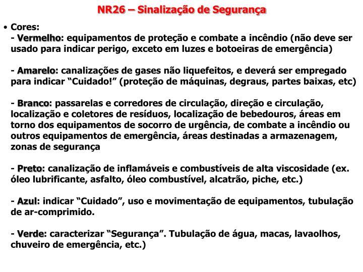 NR26 – Sinalização de Segurança