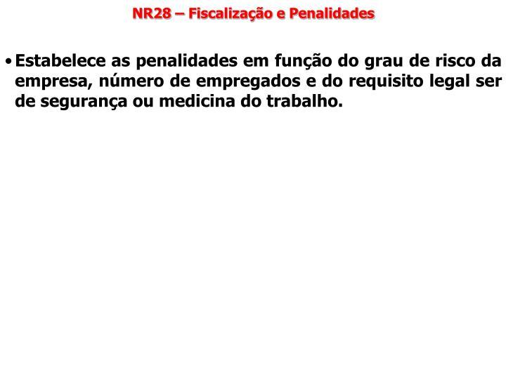 NR28 – Fiscalização e Penalidades