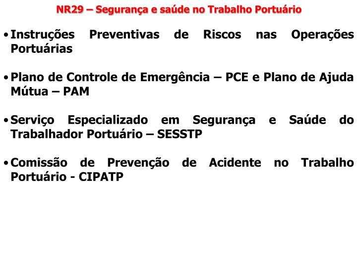 NR29 – Segurança e saúde no Trabalho Portuário