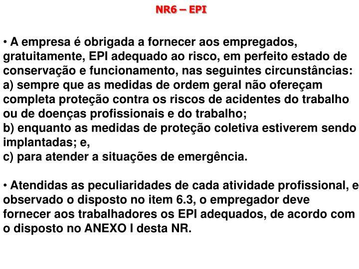 NR6 – EPI