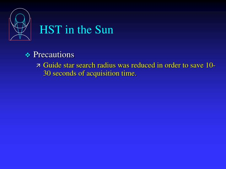 HST in the Sun