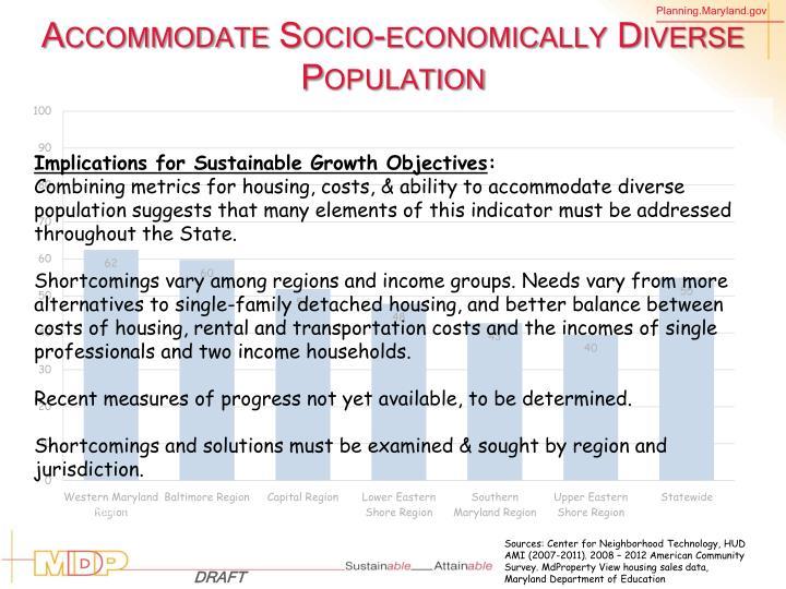 Accommodate Socio-economically Diverse Population