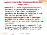 agricultural environmental resource objectives1