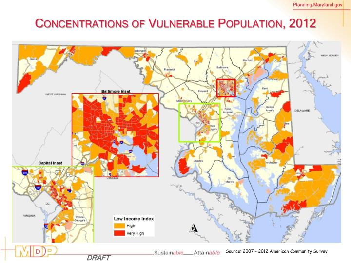 Concentrations of Vulnerable Population,