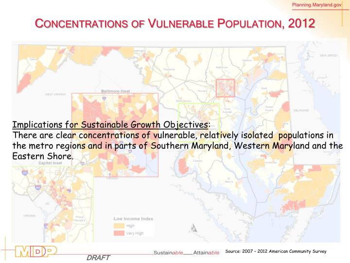 Concentrations of Vulnerable