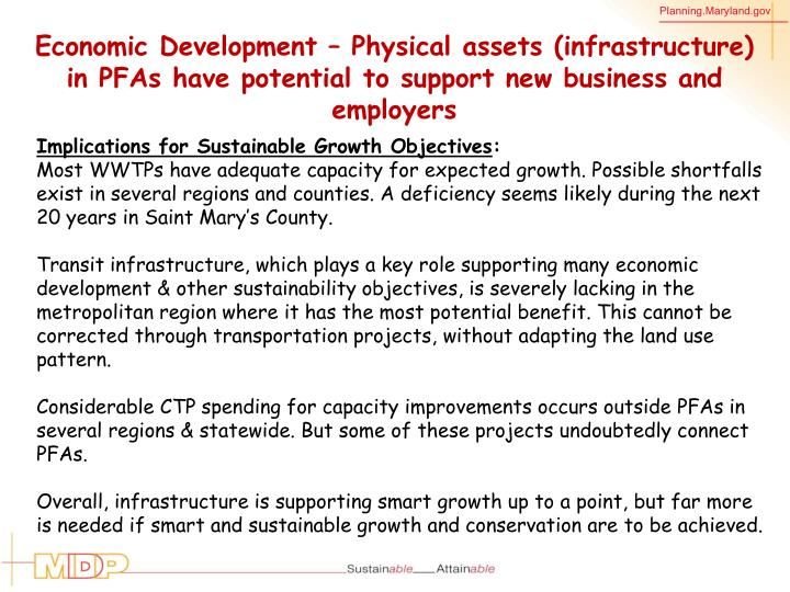 Economic Development – Physical