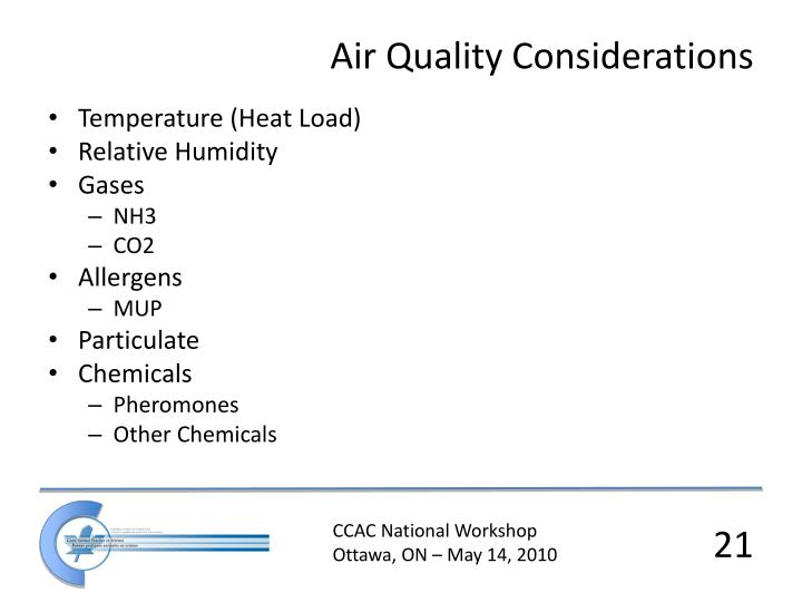 Air Quality Considerations