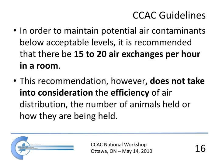 CCAC Guidelines