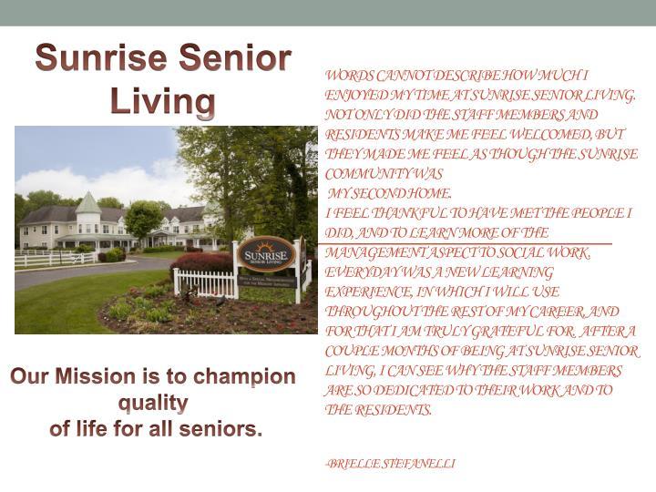 Sunrise Senior
